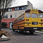 Huur oude Amerikaanse schoolbus