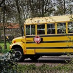 Oude schoolbus huur